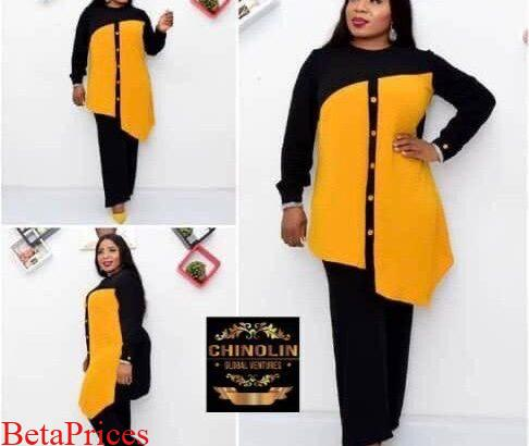 Female stylish short gowns and trousers