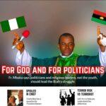 Pictures of Fr Mbaka praying for Kanu, Blasting Buhari