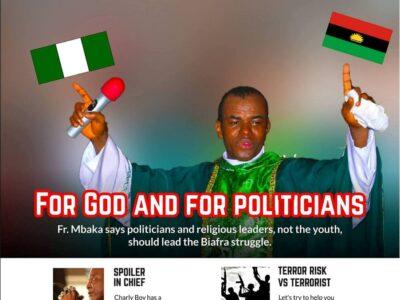 Fr Mbaka dumps Buhari, Uzodinma prays for Nnamdi Kanu (Video)