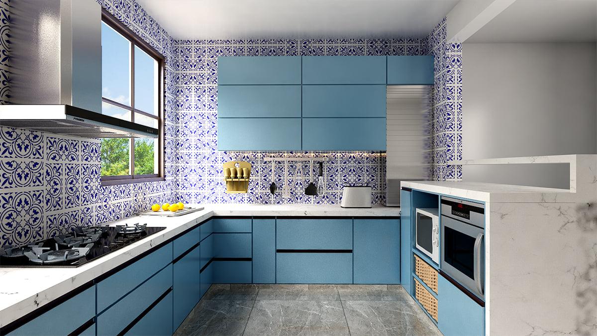 Kitchen wallpaper design idea