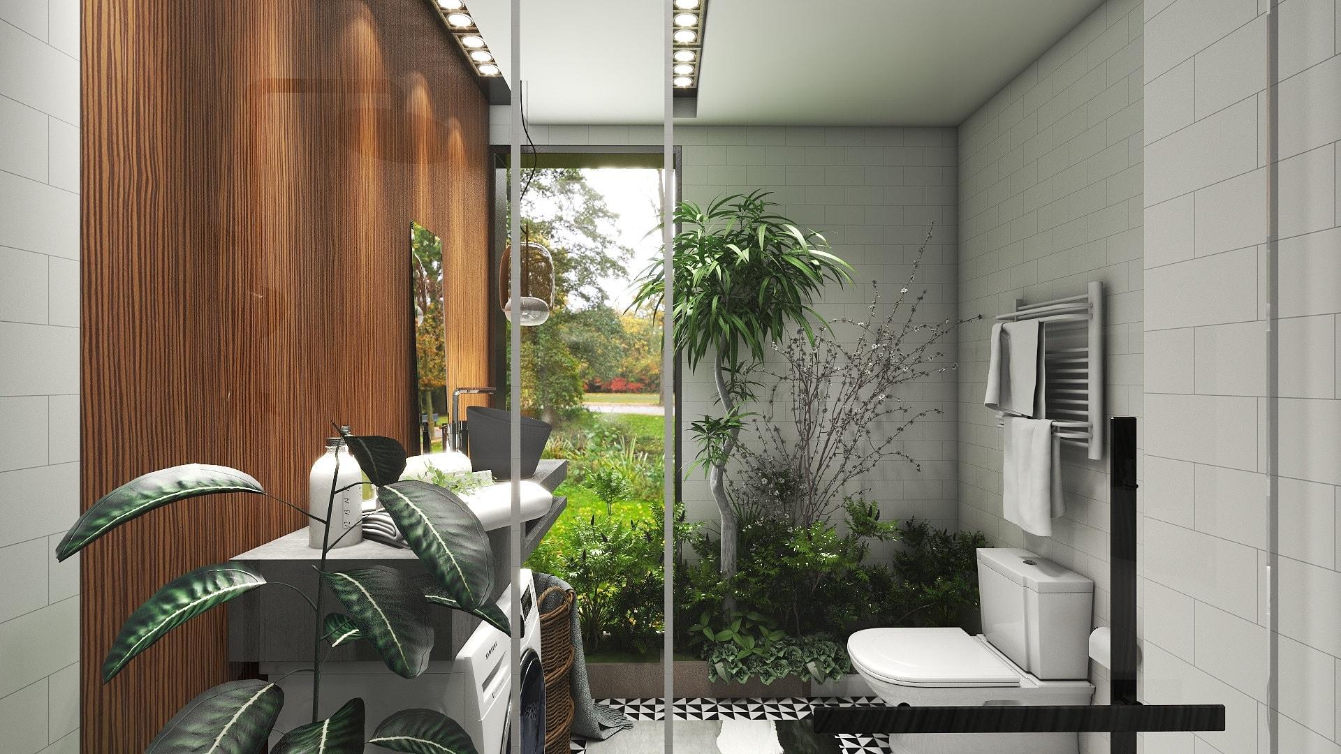 restroom 4d Wallpaper design